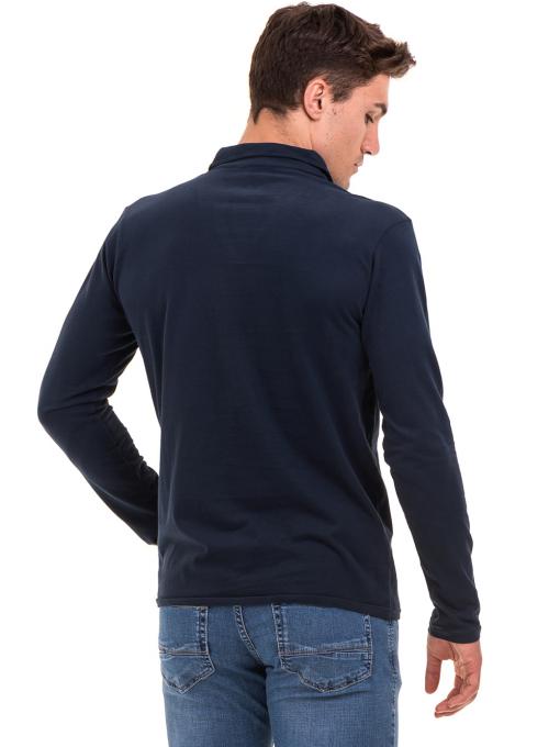 Мъжка спортна блуза XINT 344 - тъмно синя B