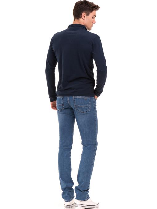 Мъжка спортна блуза XINT 344 - тъмно синя E