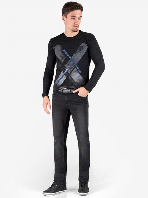 Колан VIGOSS - черен 53168  INDIGO Fashion