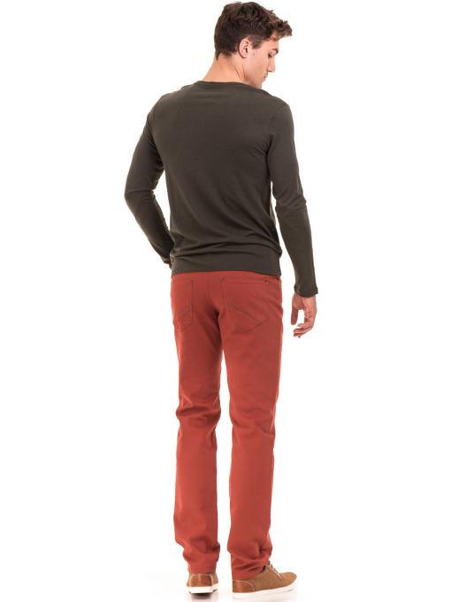 Мъжка блуза с щампа-надпис XINT 634 - цвят каки E