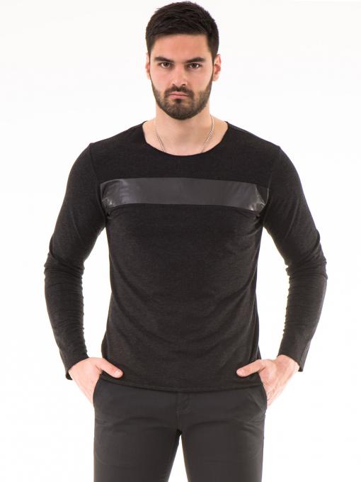 Мъжка спортна блуза XNT 641 - черна