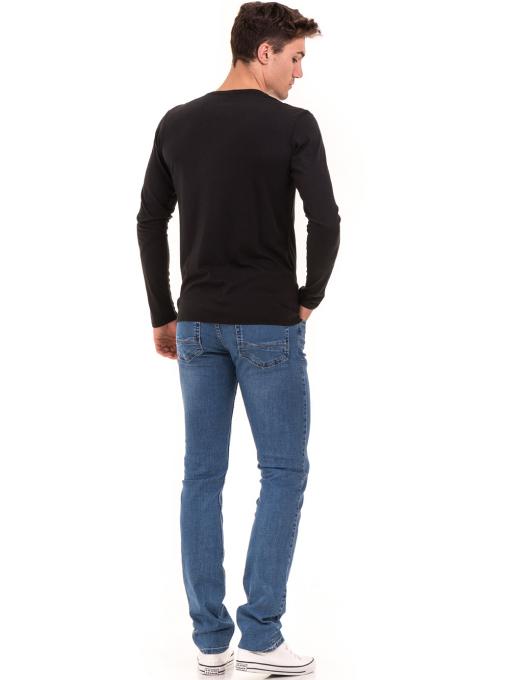 Мъжка спортна блуза с надпис XINT 676 - черна E