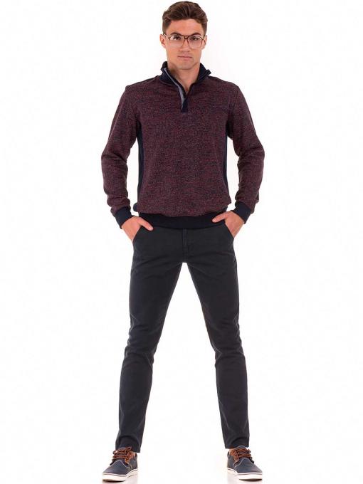 Мъжки спортно-елегантен панталон ELECTRA 7487 - тъмно син C1