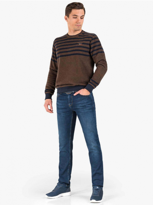 Мъжки пуловер MCL 29067 - кафяв