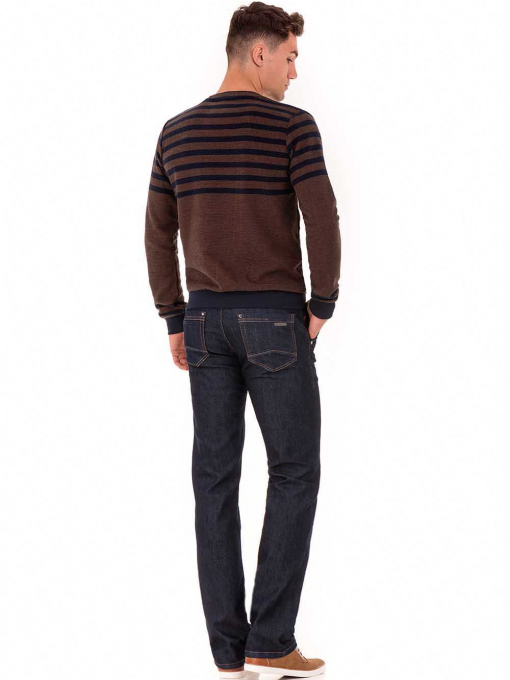 Мъжки кафяв пуловер MCL B29067 - големи размери