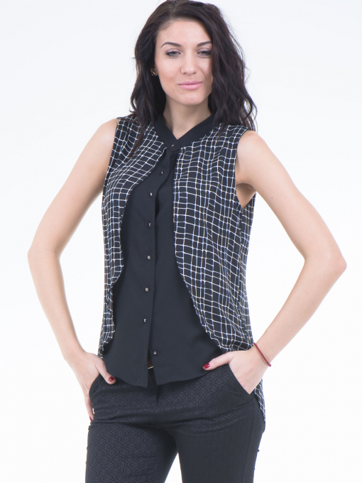 Дамска риза SELEN 56826 - черна