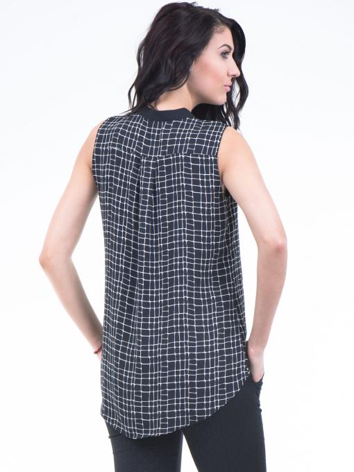 Дамска риза SELEN 56826 - черна B
