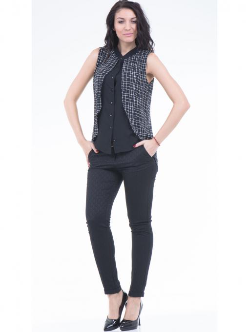 Дамска риза SELEN 56826 - черна C