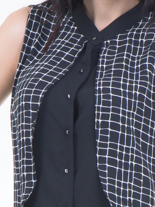 Дамска риза SELEN 56826 - черна D