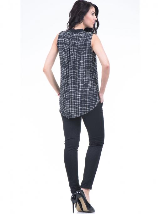 Дамска риза SELEN 56826 - черна E