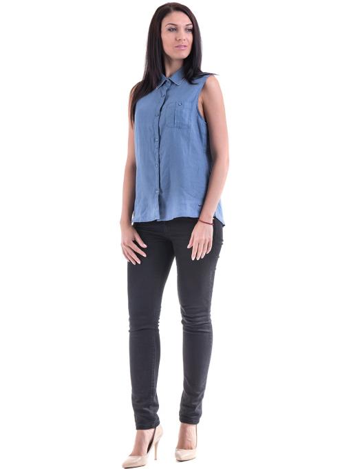 Дамска ленена риза XINT 287 - синя C