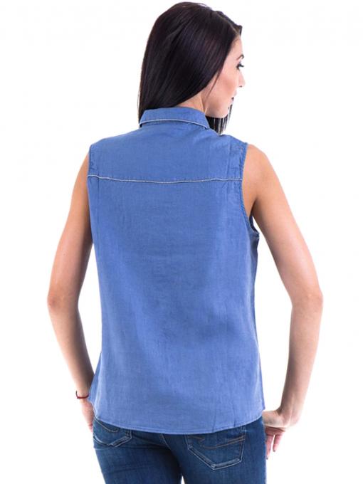 Дамска ленена риза XINT 287 - синя B