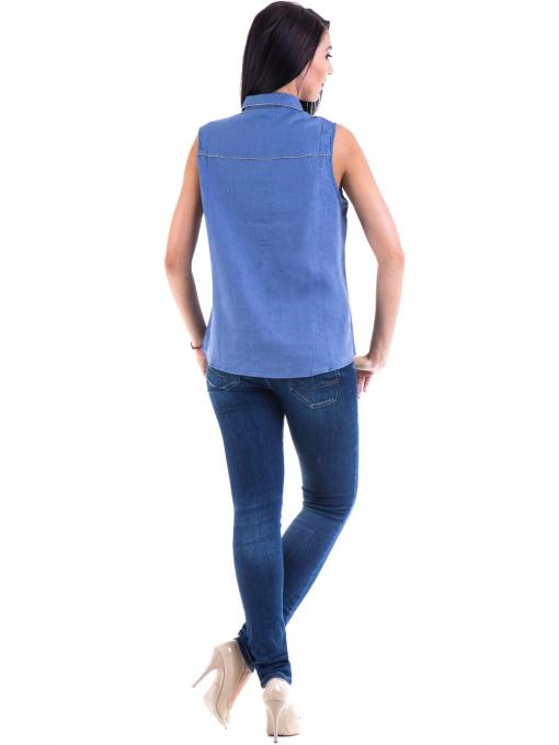 Дамска ленена риза XINT 287 - синя E