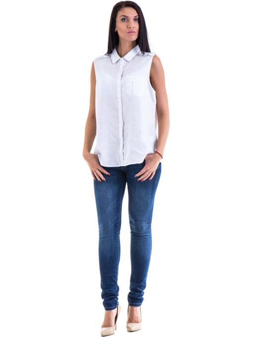 Дамска ленена риза XINT 287 - бяла C