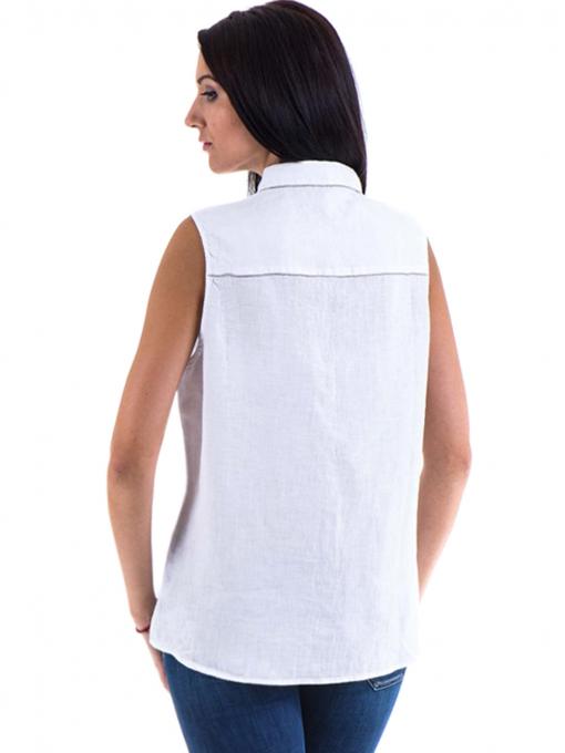 Дамска ленена риза XINT 287 - бяла B