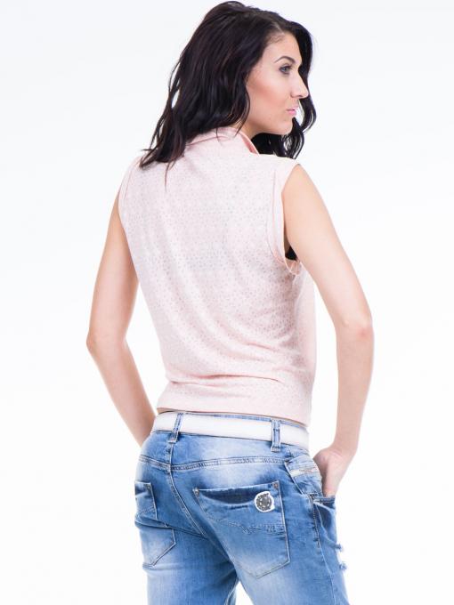 Дамска риза XINT със завързване отпред 749 - цвят праскова B