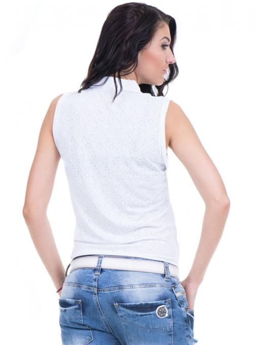 Дамска риза XINT със завързване отпред 749 - бяла B
