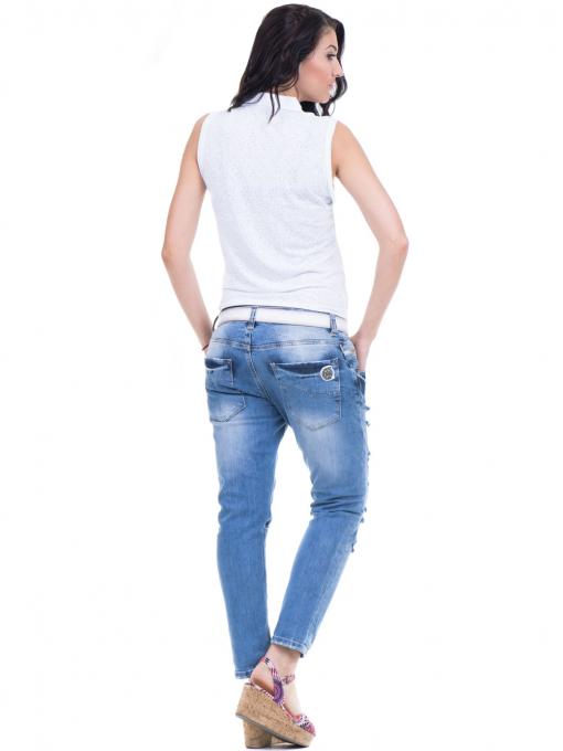 Дамска риза XINT със завързване отпред 749 - бяла E