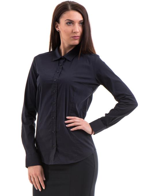 Дамска риза JOGGY GIRLS 5566 - тъмно синя