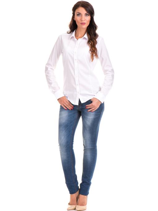 Дамска риза JOGGY GIRLS 5566 - бяла C