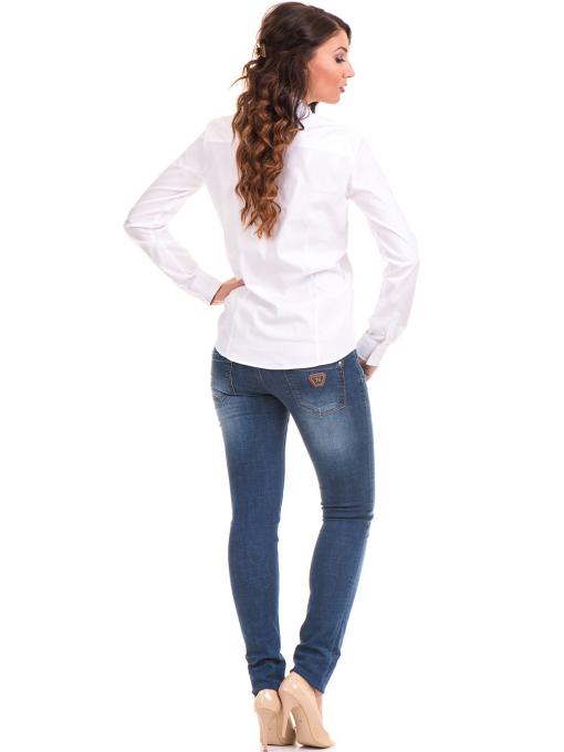 Дамска риза JOGGY GIRLS 5566 - бяла E