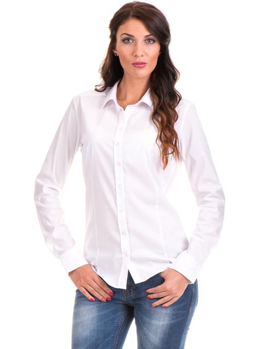 Дамска риза JOGGY GIRLS 5566 - бяла