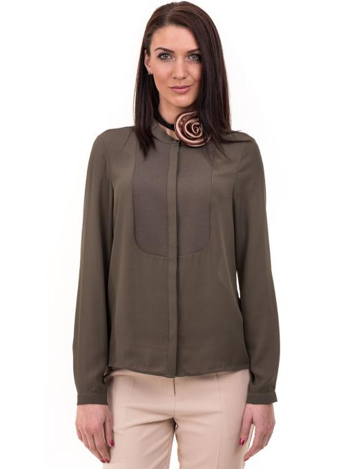 Дамска елегантна риза KOTON 62301 - цвят каки
