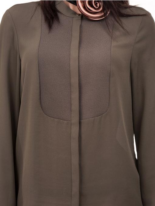 Дамска елегантна риза KOTON 62301 - цвят каки D