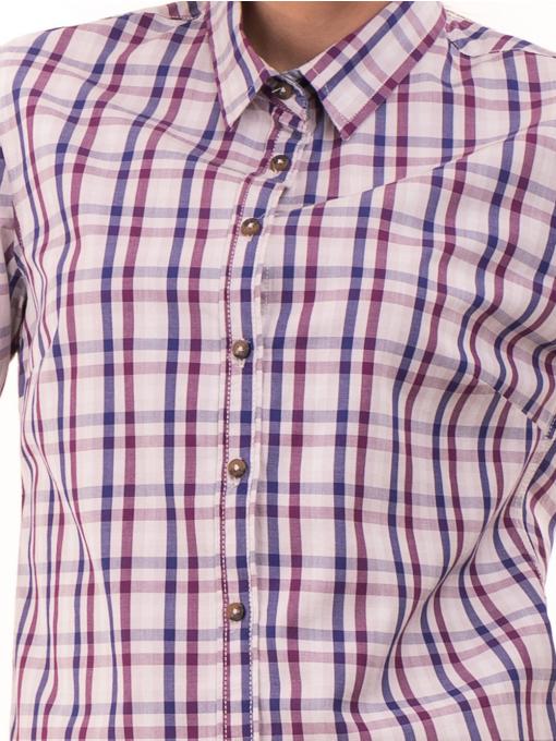 Вталена памучна дамска риза RIV/SD 20107 - лилава D
