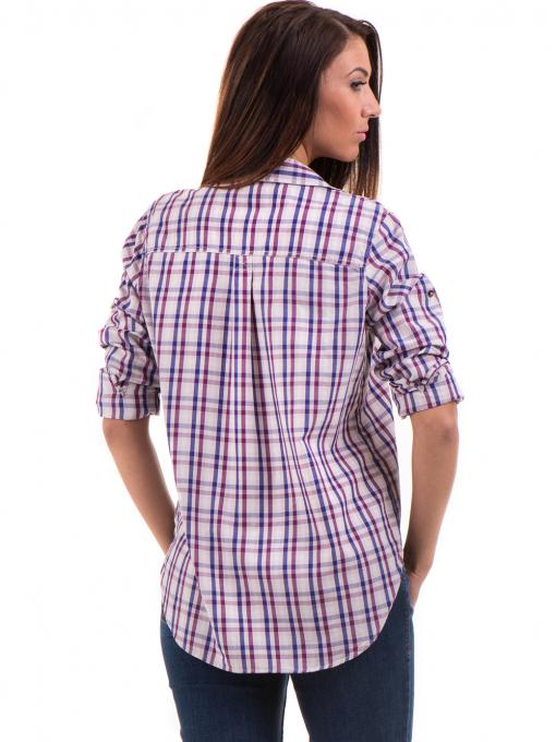 Свободна карирана дамска риза RIV/SD 20120 - лилава B