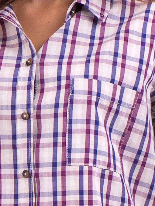Свободна карирана дамска риза RIV/SD 20120 - лилава D
