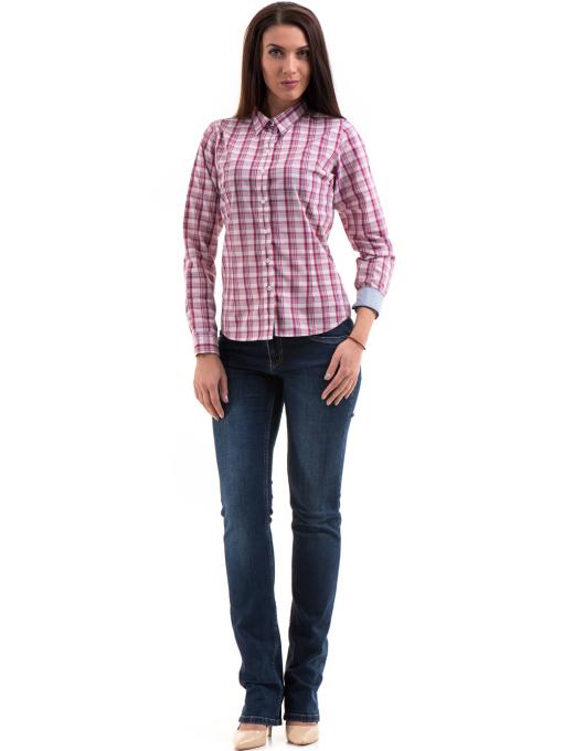 Дамска риза RIV/SD 20152 - тъмно розова C
