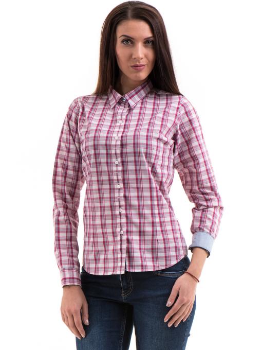 Дамска риза RIV/SD 20152 - тъмно розова