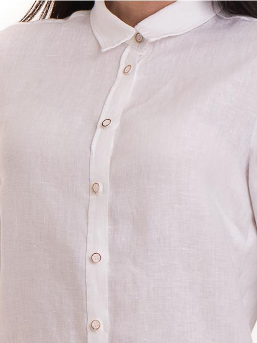 Ленена дамска риза XINT 456 - бяла D