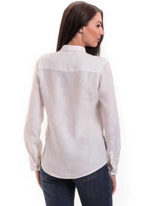 Ленена дамска риза XINT 456 - бяла B