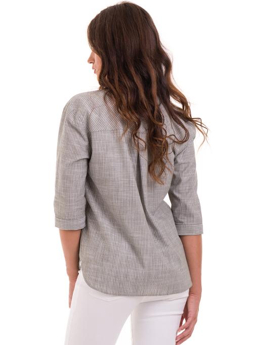 Дамска риза  XINT с 7/8 ръкав 474 - цвят каки B