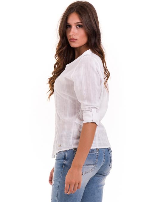 Дамска памучна риза XINT 475 - бяла B