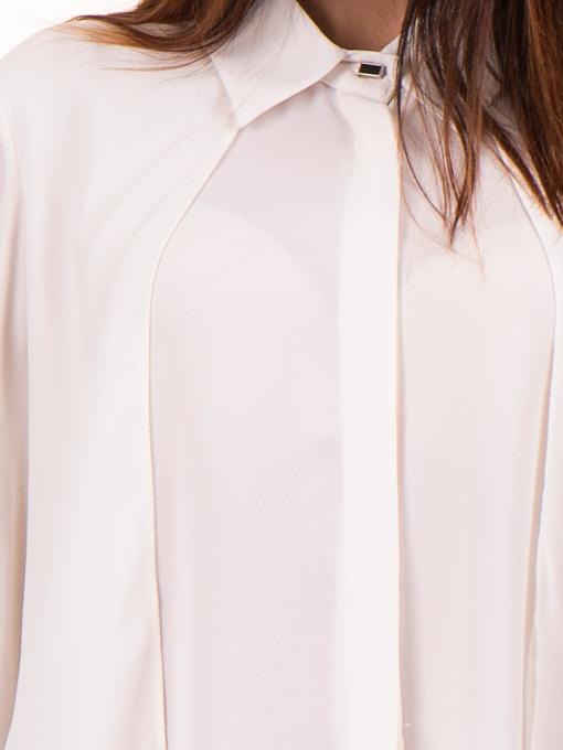 Дамска риза ZANZI с по-дълга задна част 16223 - екрю D