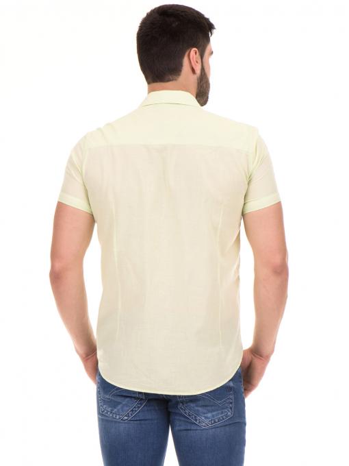 Мъжка риза BLUE PETROL 1545 - светло зелена B
