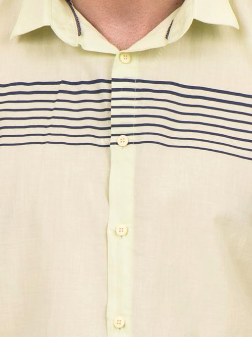 Мъжка риза BLUE PETROL 1545 - светло зелена D
