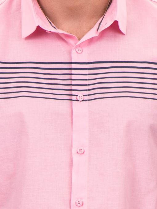 Мъжка риза  BLUE PETROL 1545 - розова D