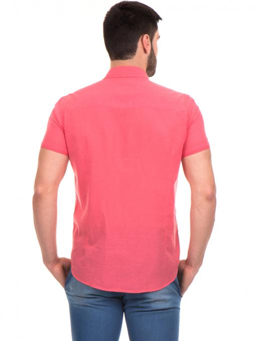 Мъжка риза  BLUE PETROL 1545 - цвят корал B