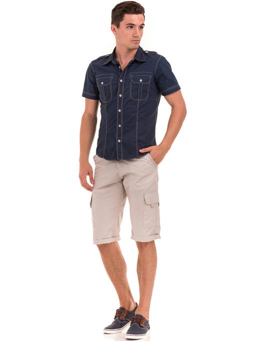 Мъжка риза CONS 77351 - тъмно синя C
