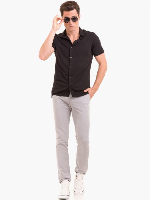 Мъжки спортен панталон XINT 408 - светло сив C1