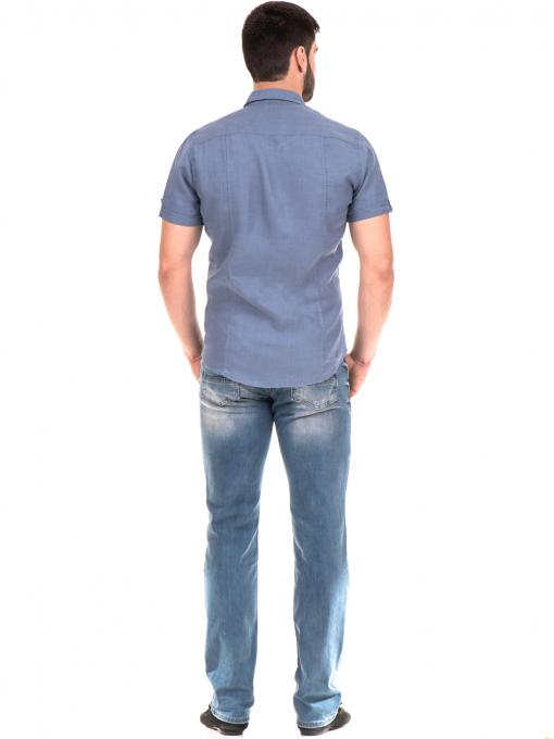 Мъжка риза XINT 375 - синя E