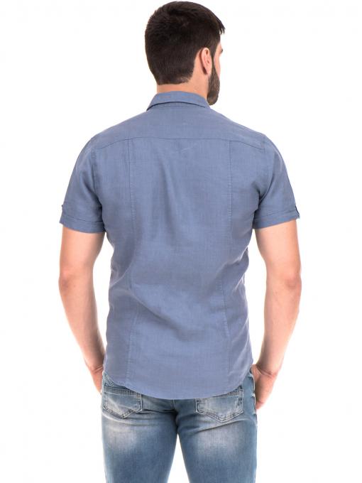 Мъжка риза XINT 375 - синя B