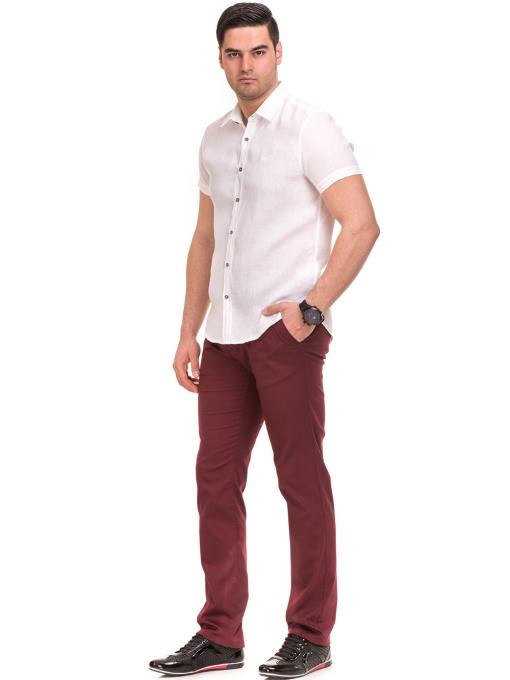 Ленена мъжка риза XINT 477 - бяла C