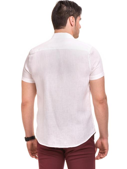 Ленена мъжка риза XINT 477 - бяла B