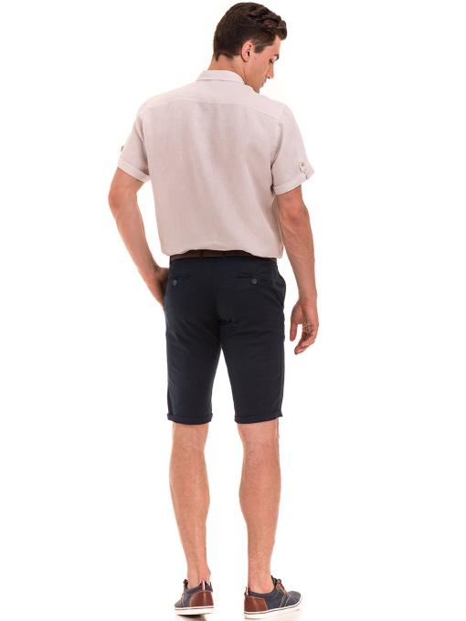Мъжка ленена риза XINT 555- светло бежова E