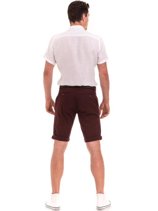 Мъжка ленена риза XINT 555 - бяла E
